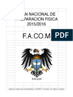Plan Nacional de Entrenamiento. Facom 2015_2016