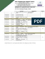 Jadwal Acara Bimbingan RSD. Kol. Abundjani Bangko Jambi-1