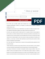 Etica y Moral Definicion