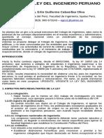 Poster-ley Ingeniero Peruano