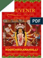 Kodichikkanahalli Sarbojanin Utsav Committee - Souvenir - 2015