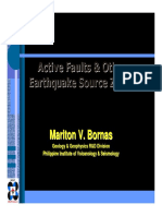 Active Faults & Other Earthquake Source Zones