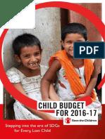 Analysis of Child Budget 2016-17