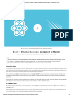 React – Structure Container Component I...Software Agency - Meteor Prime Partner