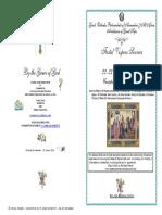 2016 22 23 SEPT VESPERS John Baptist Conception