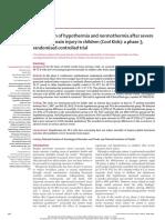 Perbandingan Hipotermia Dan Normothermia Setelah Cedera Otak Traumatik Parah Pada Anak-Anak l