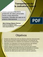 Doctora María Solange Maqueo Ramírez Taller sobre Transparencia del Consejo de la Judicatura Federal