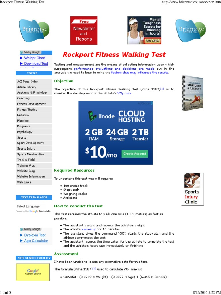 Fitness Age Calculator Online | Kayafitness co