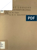 Macdougall, H. C. - First Lessons in Extemporizing on the Organ