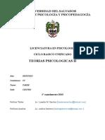 Programa 2013 Teorias Psicologicas II