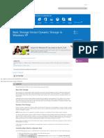 Basic Storage Versus Dynamic Storage in Windows XP