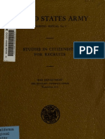 (1922) Studies in Citizenship for Recruits