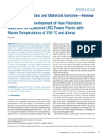 Research and Development of Heat Resistant Materials for Advanced USC Power Plants With Steam Temperatures of 700 C and Above 2015 Engineering