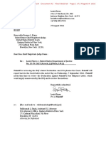 2016-08-29 Plaintiff Letter to Court (Flores v DOJ) (Stamped)