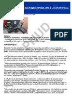Percepção da Violência no Brasil - PNUD