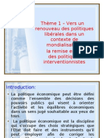 thème 1 politiques  économiques libérales  2009-2010