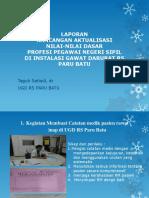 Laporan Rancangan Aktualisasi Nilai-nila
