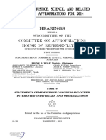 HOUSE HEARING, 113TH CONGRESS - COMMERCE, JUSTICE, SCIENCE, AND RELATED AGENCIES APPROPRIATIONS FOR 2014