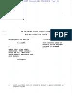 08-26-2016 ECF 1121 USA v A BUNDY et al - ORDER GRANTING Motion to Quash Subpoena of Gov Brown