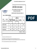 Iift _ Mba (Idfgnternational Business) (2016 -2018) __ Score Card