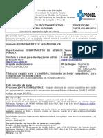 Políticas Públicas- MODELO Formulário Para Publica玢o de EdiMODELO Formulário Para Publicação de Edital Professor e Fetivo
