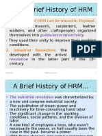 51933357 a Brief History of HRM
