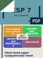 ESP Self Matrix