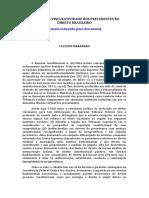 Os Graus de Vinculatividade Dos Precedentes No Direito Brasileiro