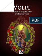 DungeonsAndDragons 5th edition Race Volpi