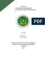 administrasi kependidikan  dan struktur organisasi sekolah