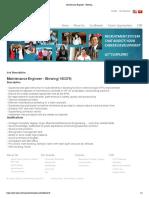 Maintenance Engineer - Blowing