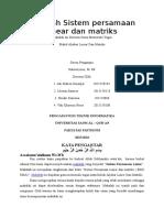 Makalah Sistem Persamaan Linear Dan Matriks