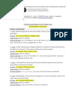 Cronograma Cursos Doctorado Marzo 2016