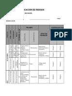 Matriz Para Identificacion de Peligros Valoracion de Riesgos y Determinacion de Controles