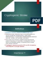 Cryptogenic Stroke