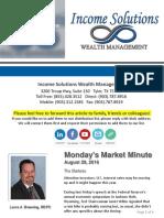 Monday's Market Minute - 08-29-16