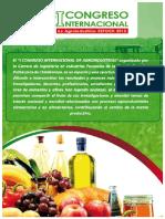 I Congreso Internacional de Agroindustrias Libro de Resúmenes