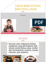 Pemenuhan Kebutuhan Nutrisi Pada Anak