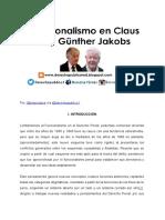 El Funcionalismo en Claus Roxin y Gunthe