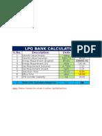 LPG Bank Calculation