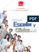 Catalogo TEA Escolar y Clinica