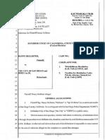 20160825 Hollister v San Diego Complaint Whistleblower Retaliation