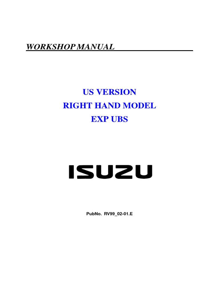 isuzu trooper workshop manual motor oil engines rh scribd com 1993 Isuzu Rodeo V6 1993 Isuzu Rodeo Specs