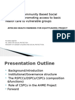 The Role of Community Based Social Protection in Promoting Access to Basic Health Care to Vulnerable Groups