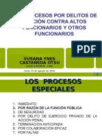 Los Procesos Por Delitos de Función - Dra. Susana Castañeda Otsu
