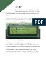 Arduino Hello World