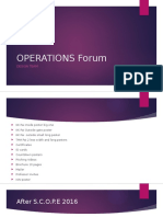 Operations Forum