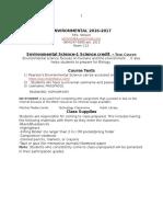 enviromental syllabus standard 2016