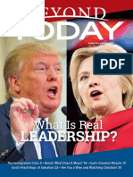 Beyond Today Magazine - September/October 2016