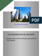 Suvharnabhumi Intl airport outdoor billboards